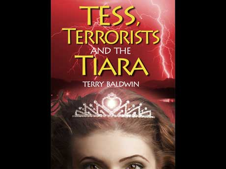 cover of tess, terrorists and the tiara by Terry Baldwin
