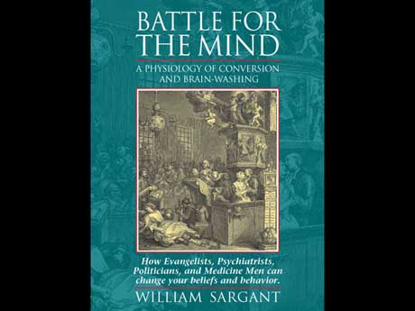 graphic design of a book cover for battle of the mind