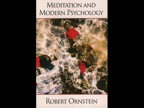 graphic design of a book cover for meditation and modern psychology by robert ornstein