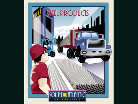 illustration for an advertisement for south atlantic galvanizing