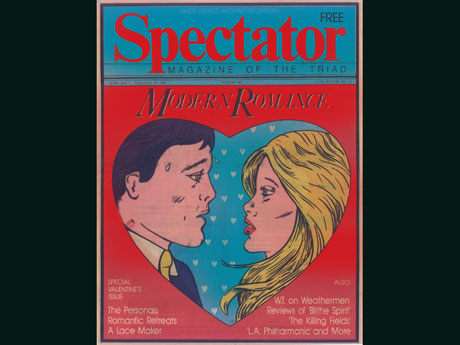 illustration for the cover of spectator magazine of the triad