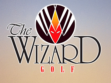 logo for the wizard golf links