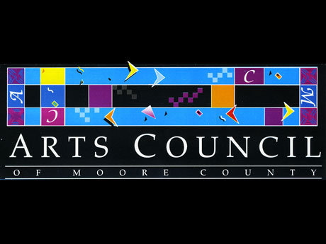 logo for arts council of moore county